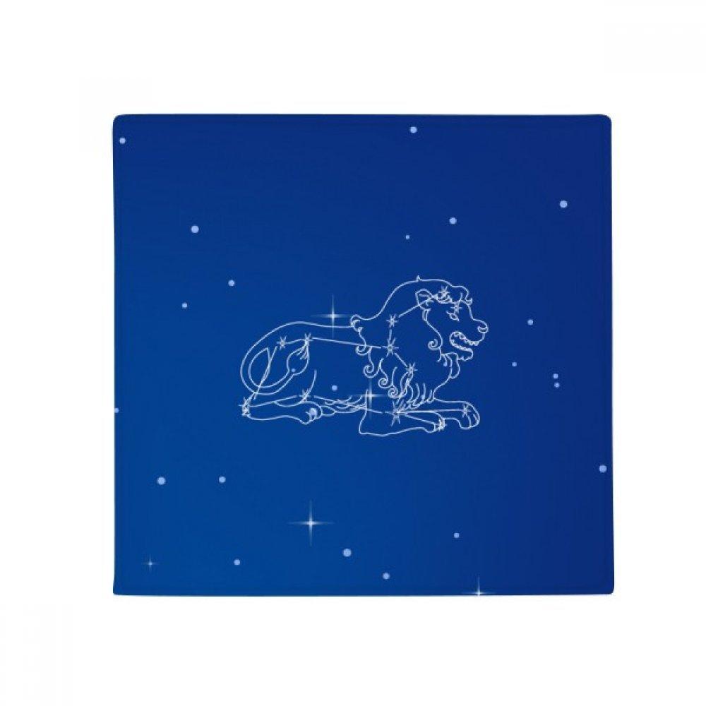 DIYthinker Star Universe Leo Constellation Pattern Anti-Slip Floor Pet Mat Square Home Kitchen Door 80Cm Gift