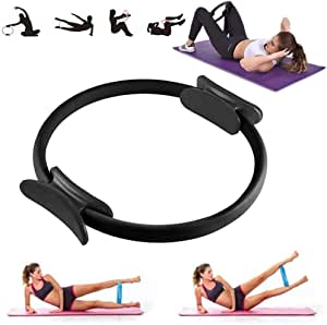 YSMOTO Pilates Ring, Pilate Exercise Rings for Thighs Magic Circle, Fitness Circles,Yoga Ring Wheel, Double Handle, Weight Loss Body Toning Equipment Resistance Training Workout to Burn Fat