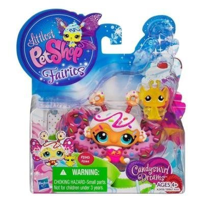 Littlest Pet Shop Candy Swirl Dreams 2 Pack Jelly Donut Fairy and Bat Hasbro