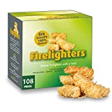 CHENCY 100% Natural Fire Starter, 108 Count Wood
