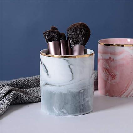 Czemo Pot A Crayons En Ceramique Pot A Pinceau De Maquillage Marbre Pot De Rangement Pinceaux Maquillage Gris Amazon Fr Fournitures De Bureau