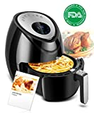 Cheap Electric Air Fryer 3.8QT XL Oil Free Low Fat with Cookbook, Digital LED 7-in-1 Air Cooker, Dishwasher Safe Fry Drawer with 5-Piece Accessories 1500W