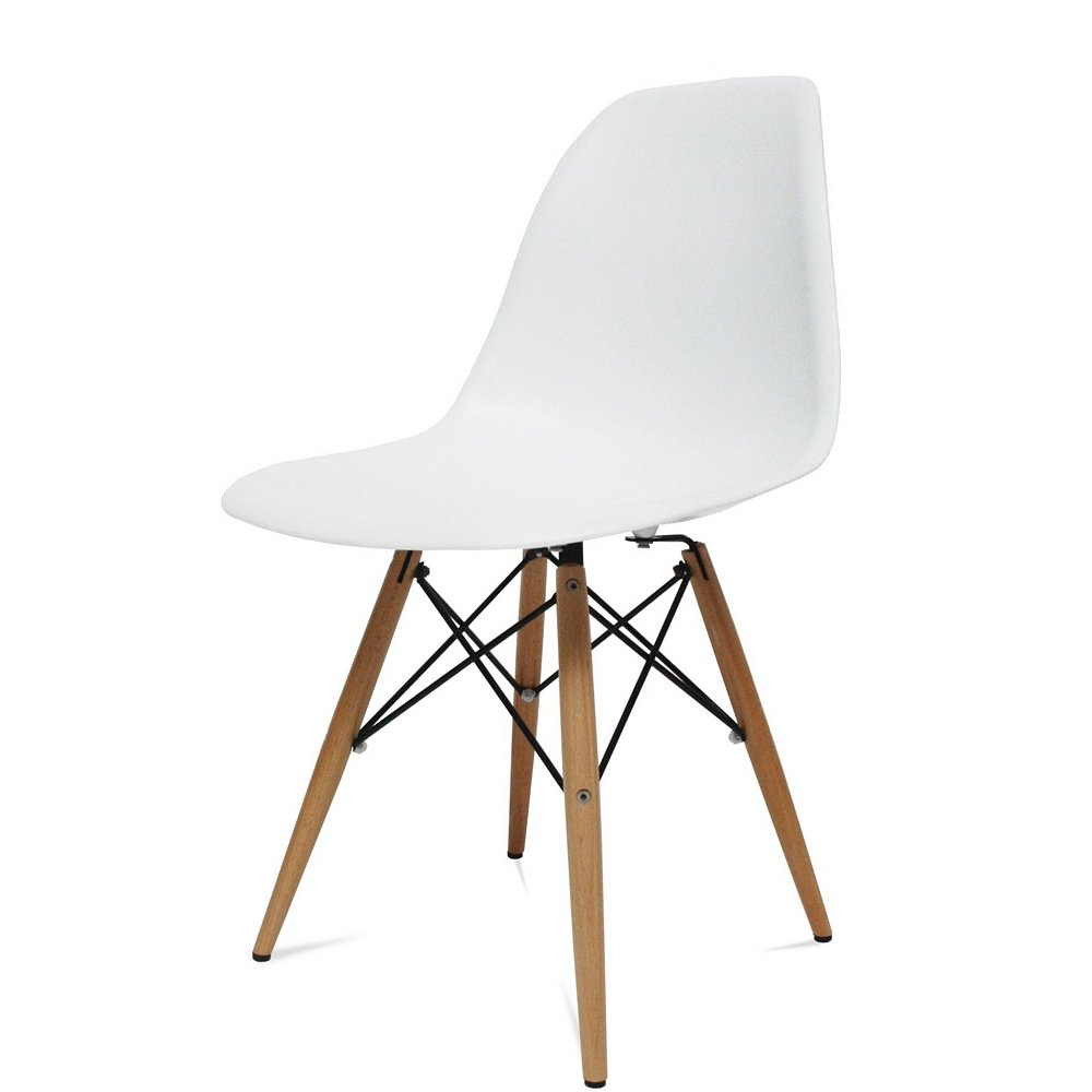 Amazon com   Designer Modern Plastic Dining Side Chair WoodLeg Eiffel Base  Set of 2   ChairsAmazon com   Designer Modern Plastic Dining Side Chair WoodLeg  . Set Of 4 Replica Eames Eiffel Dsw Dining Chair White. Home Design Ideas