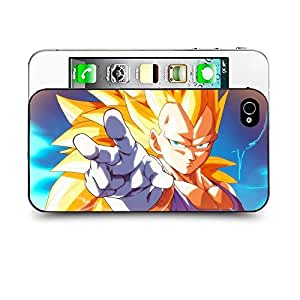 Case88 Designs Dragon Ball Z GT AF Son Goku Super Saiyan Super Saiyan Vegetto Protective Snap-on Hard Back Case Cover for Apple Iphone 4 4s
