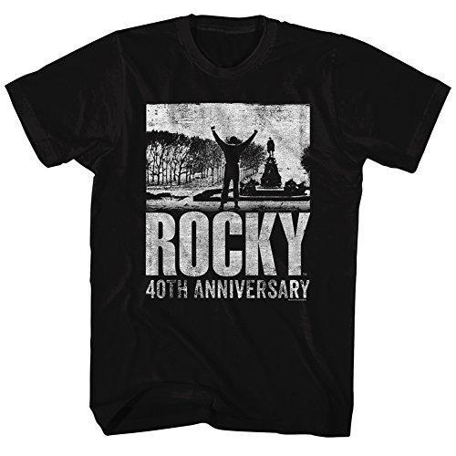 The T American shirt Anniversary Rocky 40th Steps Classics Noir IzUwx1a