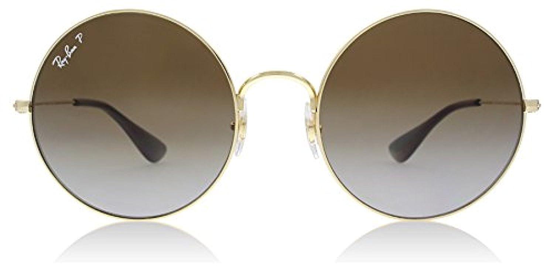 11cb71aae Amazon.com: RB RB3592 Ja-Jo Gold/Light Grey Grad Brown Polarized 55mm &  Carekit: Clothing