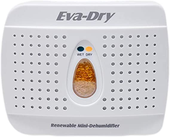 Eva Dry Wireless Mini Dehumidifier. Top Moisture Absorber for Small Spaces. Rechargeable & Portable. Perfect for Bedrooms