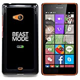 Beast Mode Exercise Rogan Black Text Designed Hard Plastic Protective Case King Case For Microsoft Nokia Lumia 540 N540