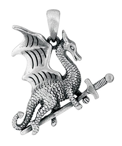 Warrior Dragon Pendant (Warrior Dragon Pendant Collectible Accessory Necklace Lizard Medallion)