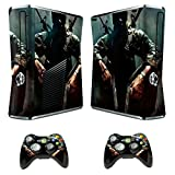 Skin Sticker for Xbox 360 Slim Console with Two Wireless Controller Decals Call of Duty Black Ops II