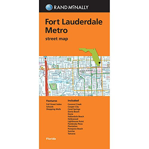 Rand McNally Folded Map: Fort Lauderdale Metro Street - Outlet Lauderdale Fort