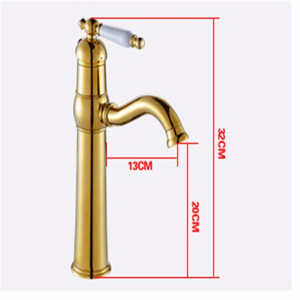 LOSTRYY Einhebel Einlochmontage Wasserhahn Einlochmontage Wasserhahn Kupfer heißen und kalten Wasserhahn Waschtischarmatur