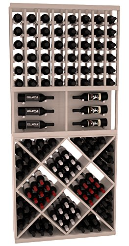 "CellarVue Ponderosa Pine 35"" Top Showcase Wine Rack Display Combo Kit 1. 13 Stains to Choose From!"