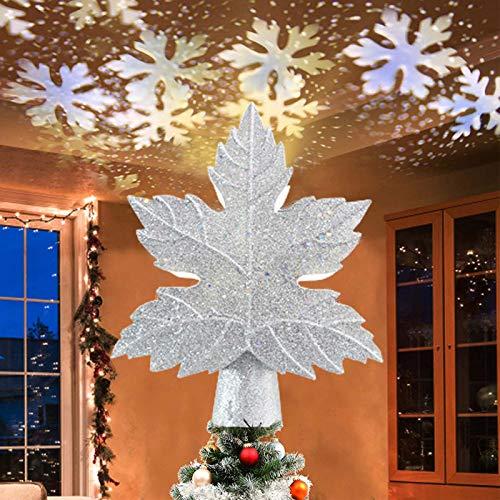 Clacce Noël Dessus d'arbre Projecteur, LED Noël Neige Tempête Projecteur Lumière, Neige Scène Projecteur, pour Noël, Vacances, Fête, Home Cinéma, Salle de Jeux, Décorations Intérieur, Cadeau