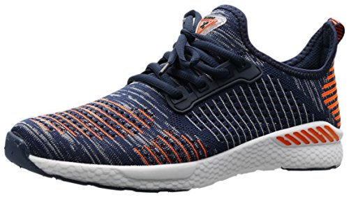 PORTANT Women Breathable Sneaker Jogging Sneaker Shoes Cheap Fashion Working Casual Girls Stylish Training Street Wear Outfit Workout Treadmill Gym Sport Lady Orange Blue White 8.5 B(M) (Comfortable Womans Sneaker)