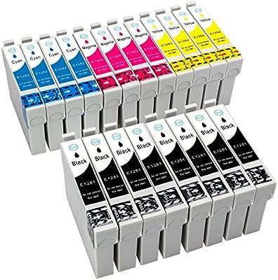 20 Cartuchos de Tinta compatible con Epson T1281 T1282 T1283 T1284 ...