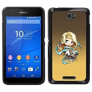 Caucho caso de Shell duro de la cubierta de accesorios de protección BY RAYDREAMMM - Sony Xperia E4 - Lindo de la fantasía de la princesa