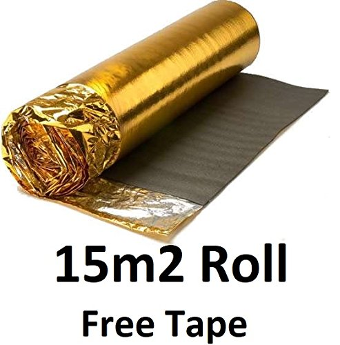 AcuStick® 5mm Sonic Gold Underlay - 15m² Roll - Thermal & Acoustic - FREE VAPOUR TAPE AcuStick®