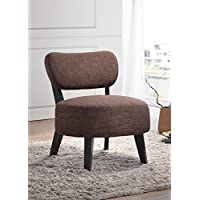 Kings Brand Furniture Armless Accent Chair, Brown/Cappuccino
