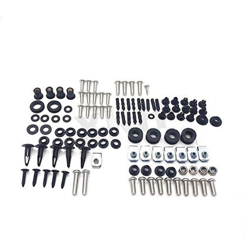 XKH Group Stainless Steel Fairing Bolt Kit Body Bolt Washer For Suzuki GSX-R 600 750 04-05