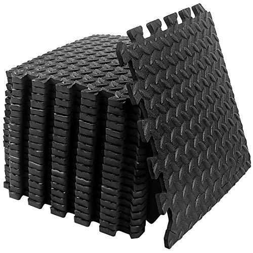 StillCool Puzzle Exercise Floor Mat, EVA Interlocking Foam Tiles Exercise Equipment Mat with Border – for Gyms, Yoga…