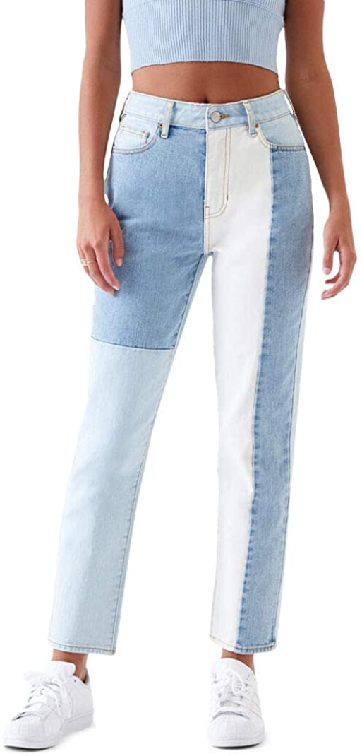 PacSun Womens Hopper Patch Mom Jeans