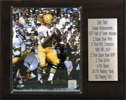 NFL Bart Starr Green Bay Packers Player Plaque