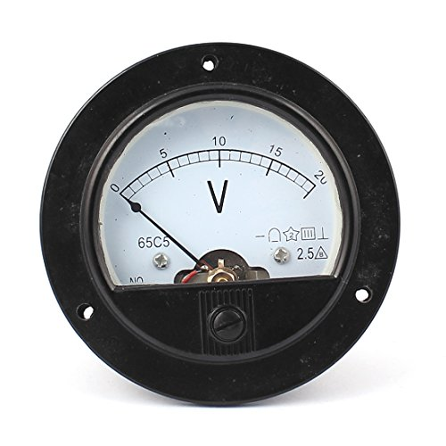Uxcell a15101200ux0051 DC 0-20V Analogue Panel Meter Volt Voltage Gauge Analog Voltmeter by uxcell