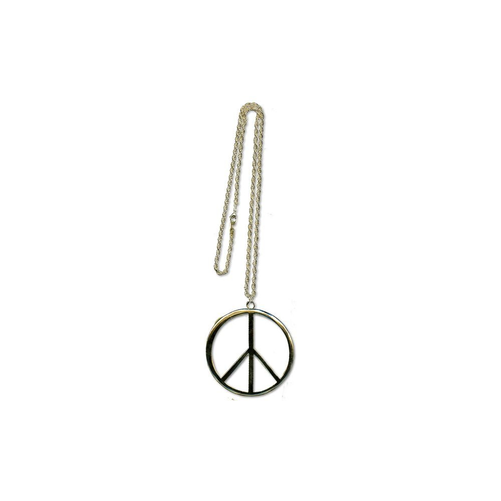 FAD TREASURES - Gold Peace Extra Large Sign Necklace
