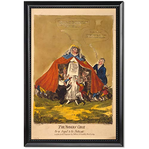 ClassicPix Framed Print 11x17: The Modern Circe Or A Sequel to The Petticoat, 1809