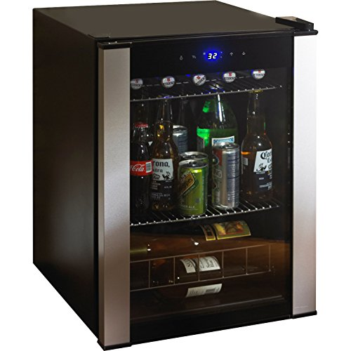 Highest Rated Compact Wine Beverage Cooler Refrigerator- Counter Top Compact Wine Beer Beverage Cellar 20 Bottle (Bordeaux) Capacity- Portable Stainless Steel 2-Shelves LED Lighting Digital Controls