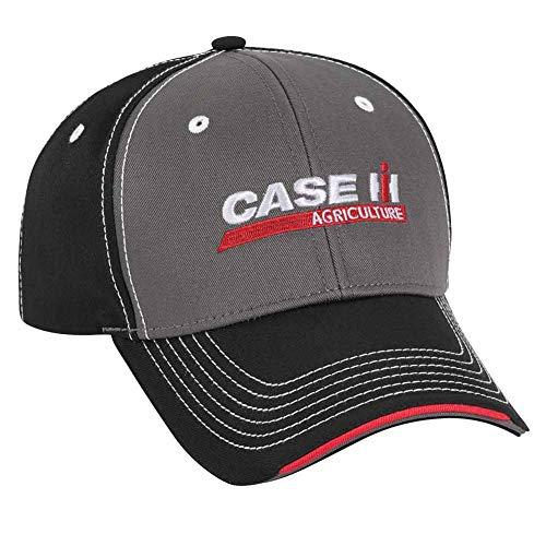 Case IH Gray/Black Chino Layered Sandwich Cap ()