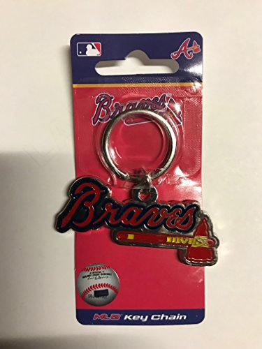 Zinc MLB Team Logo Key Ring - Atlanta Braves