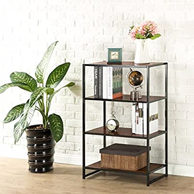 """Zinus Modern Studio Collection 4-Shelf Multipurpose Bookcase - Functional and stylish Easy to Assemble Dimensions:  25"""" long x 13"""" wide with 11.5"""" between shelves, 38"""" total height - living-room-furniture, living-room, bookcases-bookshelves - 51L2aWnHuzL. SS400  -"""