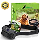 Naturepets [Newest 2018 Upgraded Bark Collar w/Upgraded Smart Chip Best Dog Anti-Barking Collar, Beep/Vibration/Shock Mode. No Bark Device Medium/Large Dogs All Breeds Over 6 lbs