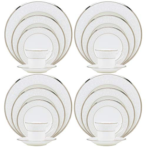 Noritake Silver Palace 20-Piece Dinnerware Place Setting, Service for 4