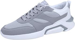 Chaussures ADESHOP Aération Maillée Chaussures De Sport pour Hommes À La Mode Laçage Baskets Confortable Antidérapant Chaussures Basses Sneakers Grande Taille