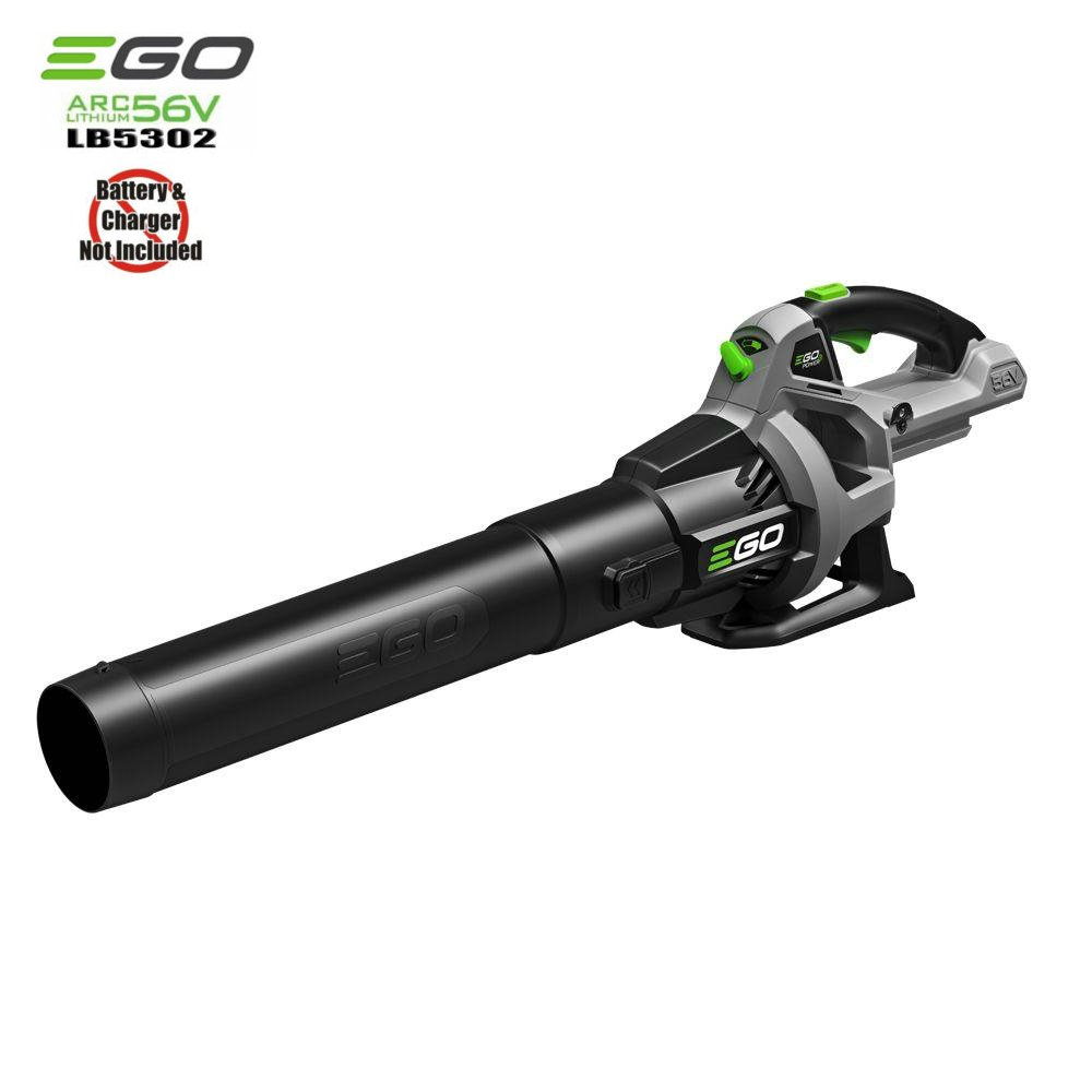 Ego 56-Volt Lithium-Ion Cordless Electric Baretool Turbo Blower 110 MPH 530 CFM Variable Speed Battery and Charger Not Included