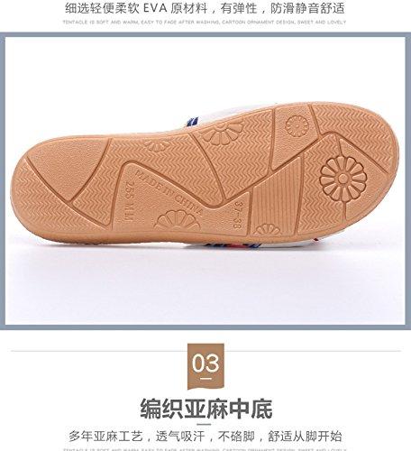 Slipper lino donna DHGH e blu pantofola in scarpe per da casual UqqdB