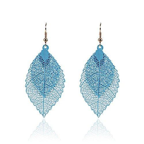 Earings Women Fashion Luxury Boho Double Color Leaf Dangle Earrings Vintage Leaves Long Tassels Drop Earring Women Jewelry - Potomac Outlets