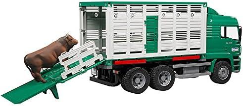 Bruder-2749 Camión de Ganado con una Vaca, Multicolor (2749)