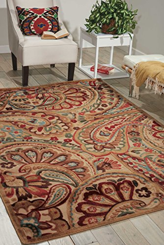 - Nourison Graphic Illusions (GIL14) Lt Multi Rectangle Area Rug, 7-Feet 9-Inches by 10-Feet 10-Inches (7'9