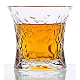 Diy Family Store? Whiskey Glasses Set of 6,Czech Crystal Glass,Glass Cocktail Liquor or Bourbon Tumblers,Lead free,Unique, Dishwasher Safe,9.1oz
