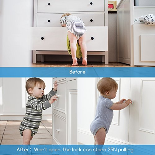 Baby Proofing Magnetic Cabinet Lock Set (16 Locks + 3 Keys), Invisible Child Safety Locking System for Cabinets Cupboards Drawers with Deactivate Switch - No Drilling No Screws Easy Install by YOUTHINK (Image #7)