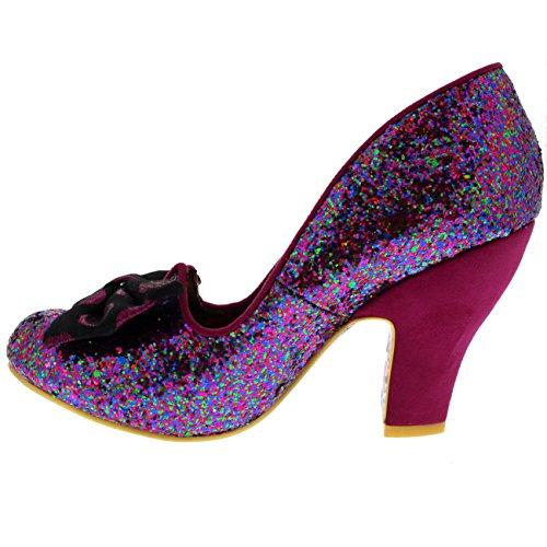 Black Irregular Time Of Donna Tacco Scarpe Pink Con Choicenick qq4wBP0
