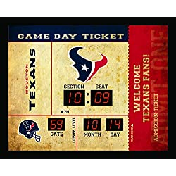 Team Sports America Houston Texans Bluetooth Scoreboard Wall Clock