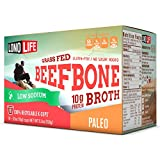 #2: LonoLife Low Sodium Grass Fed Beef Bone Broth 10g Protein; 10 Count Paleo Snack for Keurig Style Brewer …