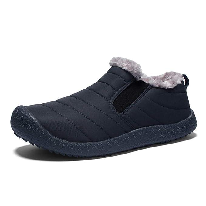 Morbuy Botas de Nieve Hombre Invierno Plano Botines Calentar Zapatos Impermeables Deportes Trekking Zapatos Forro Piel Sneakers: Amazon.es: Ropa y ...