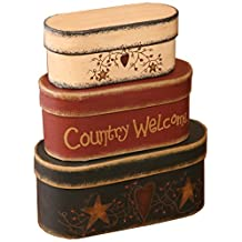 Your Hearts Delight 7-3/4 by 3-1/2-Inch Country Welcome Nesting Boxes, Large