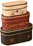 Primitive Home Decor Your Hearts Delight 7-3/4 by 3-1/2-Inch Country Welcome Nesting Boxes, Large